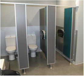 Toilet Partitions Toilet Cubicles Bathroom Walls KerMac - Pvc bathroom partitions